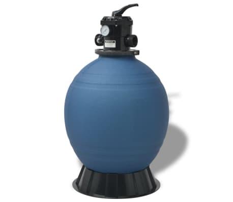 vidaXL Pool Sand Filter 22 inch Round Blue[1/5]