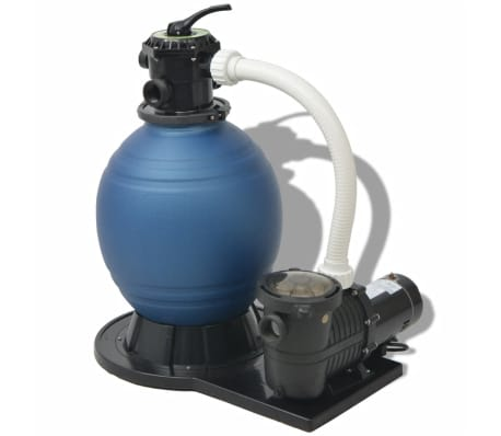 vidaXL Sand Filter with Pool Pump 18 inch 1 HP 4740 GPH[1/4]