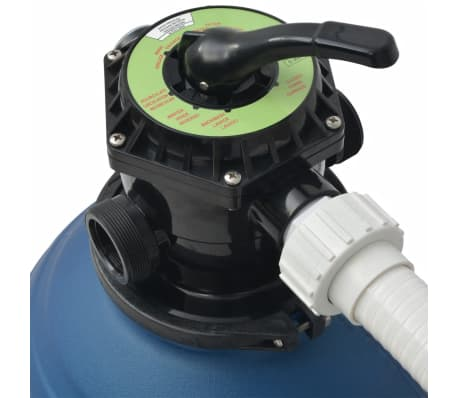 vidaXL Sand Filter with Pool Pump 18 inch 1 HP 4740 GPH[3/4]