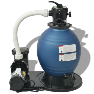 vidaXL Sand Filter with Pool Pump 18 inch 1 HP 4740 GPH[2/4]