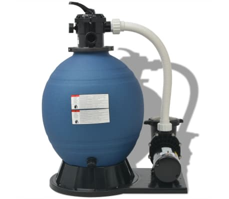 vidaXL Sand Filter with Pool Pump 22 inch 1.5 HP 5280 GPH[2/4]