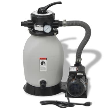 vidaXL Sand Filter with Pool Pump 0.35 HP 2694 GPH[2/6]
