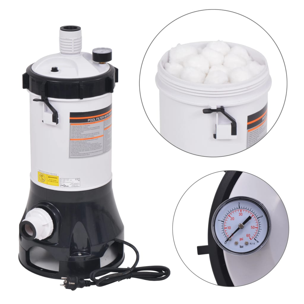 vidaXL Pompă de filtrare pentru piscine Intex Bestway, 185 W, 4,4 m³/h vidaxl.ro