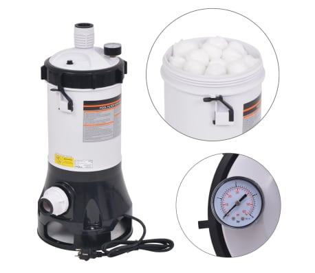vidaXL Bazénový filter pre bazény Intex a Bestway, 185 W, 4,4 m³/h[1/12]