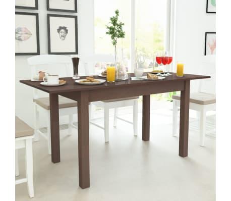 vidaxl tavolo estensibile marrone scuro 120 160x70x76 5 cm