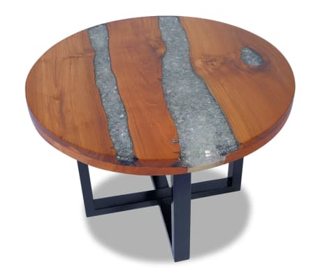 "vidaXL Coffee Table Teak Resin 23.6""[1/10]"