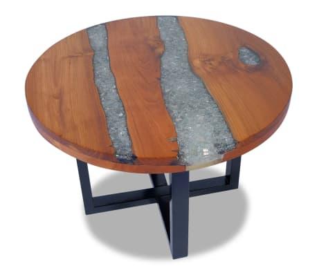 Vidaxl Table Basse Table Dappoint De Salon Séjour En Teck Résine 60