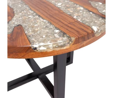 "vidaXL Coffee Table Teak Resin 23.6""[8/10]"
