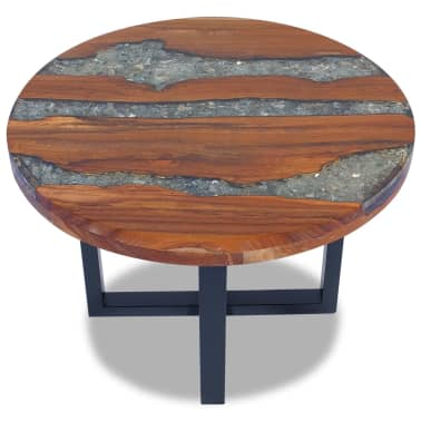 "vidaXL Coffee Table Teak Resin 23.6""[4/10]"
