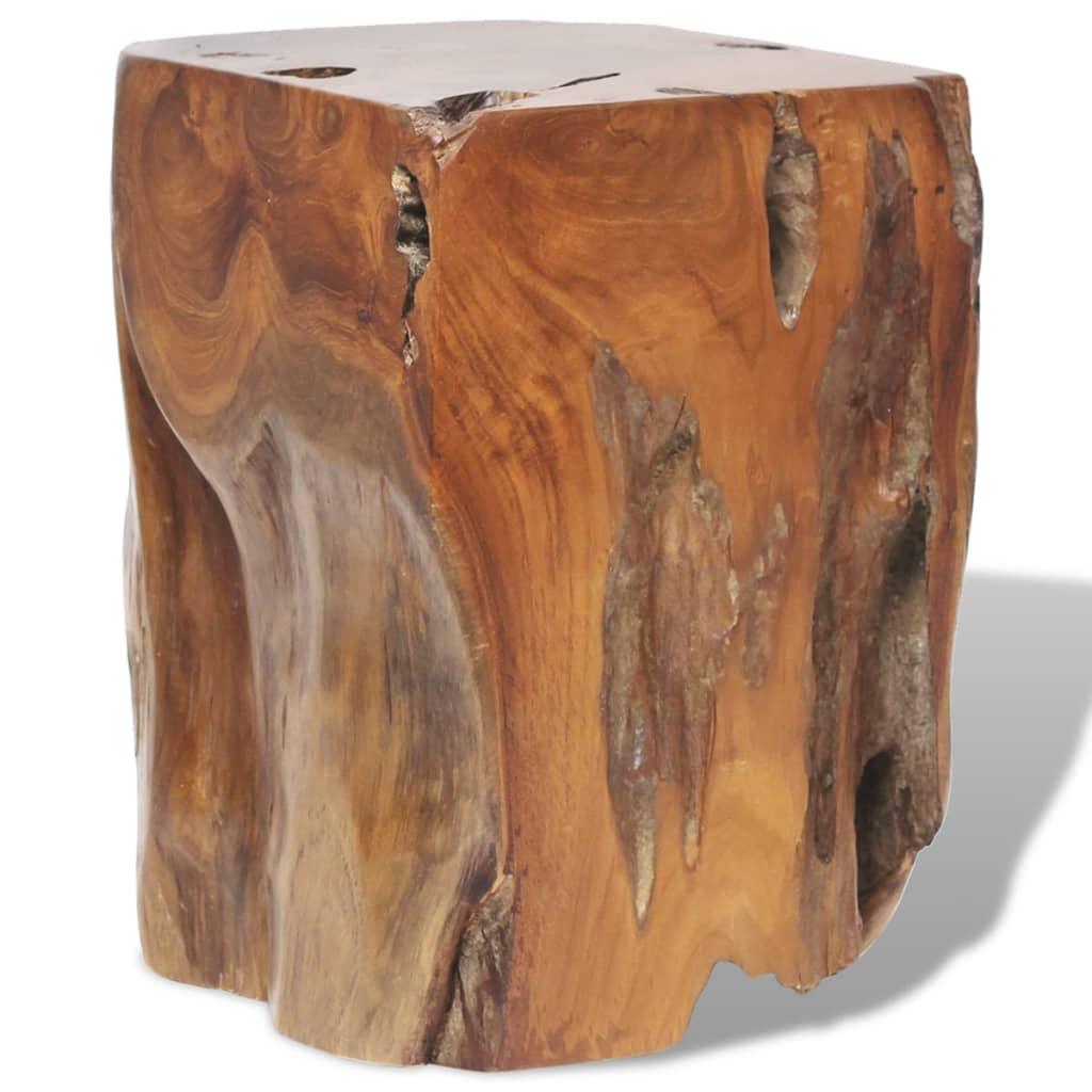 vidaXL Stolička z masivního teaku 30x30x40 cm