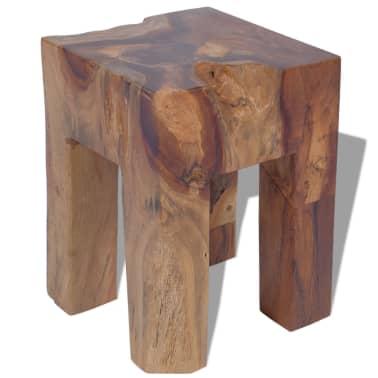 vidaXL Stool Solid Teak Wood[1/9]