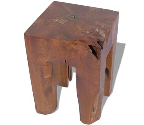 vidaXL Stool Solid Teak Wood[3/9]