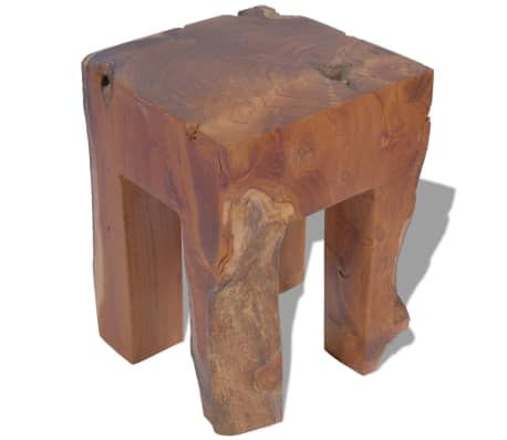 vidaXL Stool Solid Teak Wood[4/9]