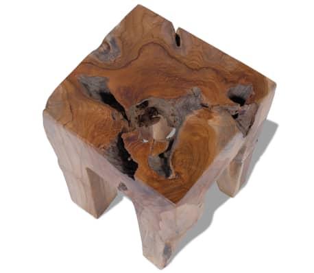 vidaXL Stool Solid Teak Wood[6/9]