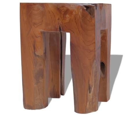 vidaXL Stool Solid Teak Wood[8/9]