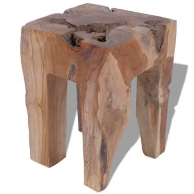 vidaXL Stool Solid Teak Wood[2/9]