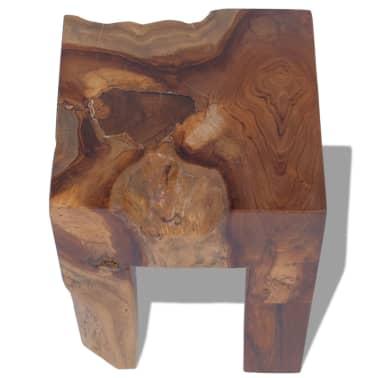 vidaXL Stool Solid Teak Wood[5/9]