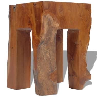 vidaXL Stool Solid Teak Wood[7/9]