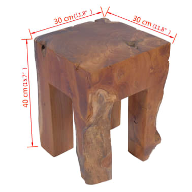 vidaXL Stool Solid Teak Wood[9/9]