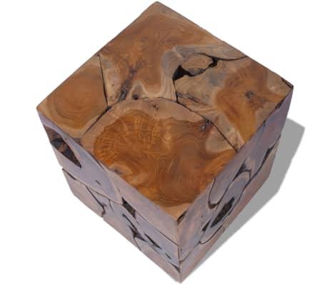 vidaXL Stool Solid Teak Wood[6/11]