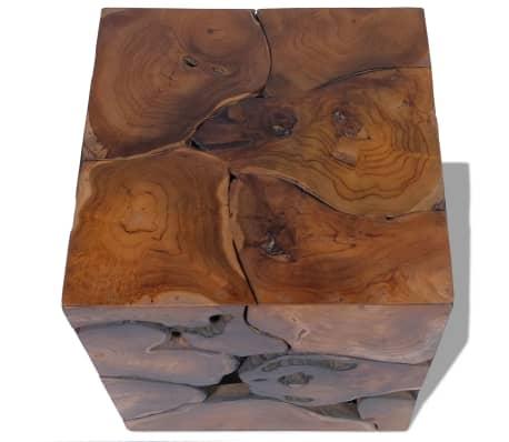 vidaXL Stool Solid Teak Wood[7/11]