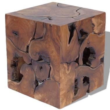 vidaXL Stool Solid Teak Wood[2/11]