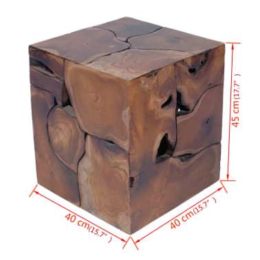 vidaXL Stool Solid Teak Wood[11/11]