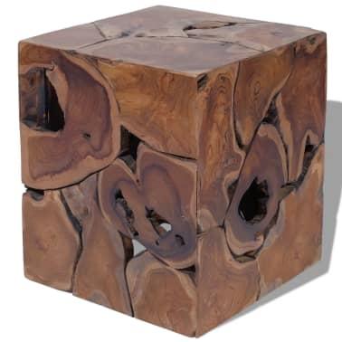 vidaXL Stool Solid Teak Wood[3/11]