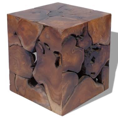 vidaXL Stool Solid Teak Wood[4/11]