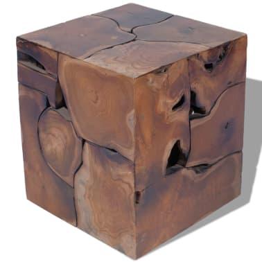 vidaXL Stool Solid Teak Wood[5/11]