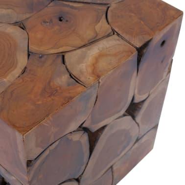vidaXL Stool Solid Teak Wood[8/11]