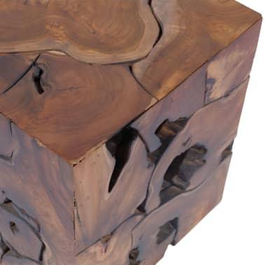 vidaXL Stool Solid Teak Wood[9/11]