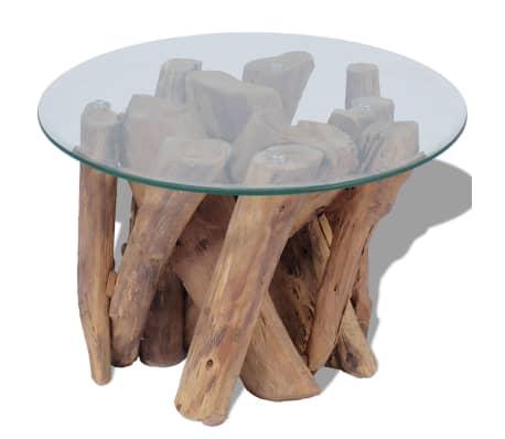 "vidaXL Coffee Table Solid Teak 23.6""[1/7]"