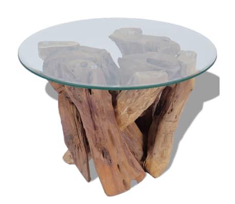 "vidaXL Coffee Table Solid Teak 23.6""[3/7]"