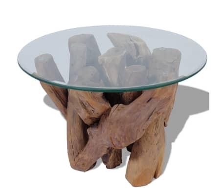 "vidaXL Coffee Table Solid Teak 23.6""[4/7]"