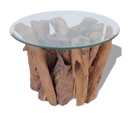 Acheter Vidaxl Table Basse Teck Massif 50 Cm Pas Cher Vidaxlfr