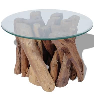 "vidaXL Coffee Table Solid Teak 23.6""[2/7]"