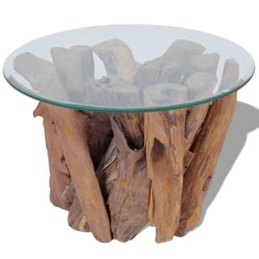 "vidaXL Coffee Table Solid Teak 23.6""[5/7]"