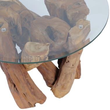 "vidaXL Coffee Table Solid Teak 23.6""[6/7]"