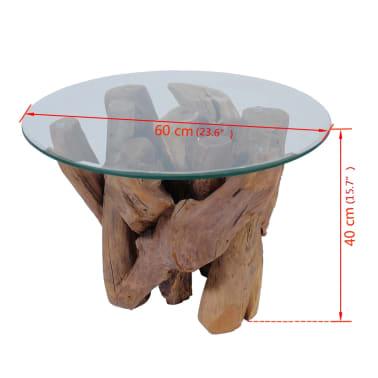 "vidaXL Coffee Table Solid Teak 23.6""[7/7]"