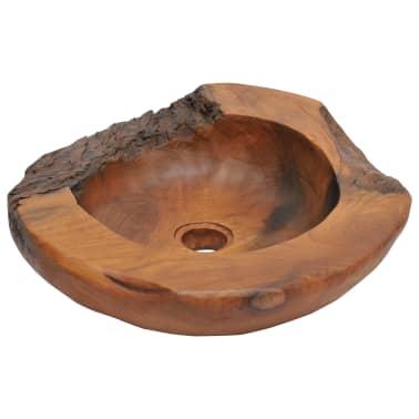 vidaXL Umývadlo z masívneho teakového dreva, 45 cm[1/10]