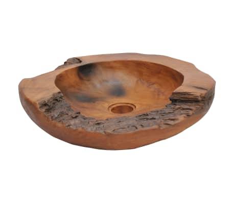 vidaXL Umývadlo z masívneho teakového dreva, 45 cm[4/10]