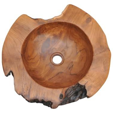 vidaXL Umývadlo z masívneho teakového dreva, 45 cm[8/10]