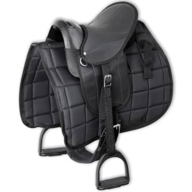 "vidaXL Pony Saddle Set 10"" Black[1/8]"