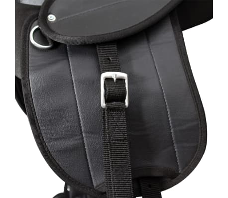 "vidaXL Pony Saddle Set 10"" Black[3/8]"