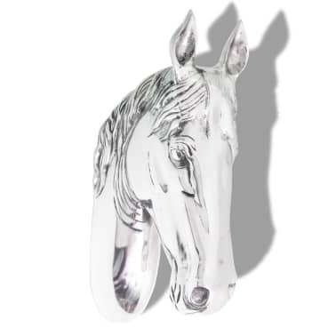 vidaXL Paardenhoofd muurdecoratie aluminium zilver[2/5]