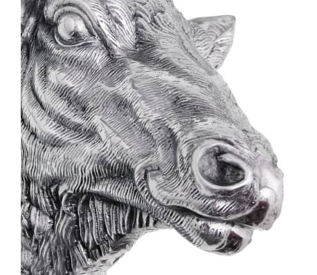 vidaXL Deer Head Decoration Wall-Mounted Aluminum Silver[6/8]