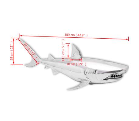 vidaXL Shark Decoration Wall-Mounted Aluminum Silver[7/7]