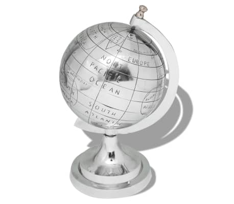 "vidaXL Globe with Stand Aluminum Silver 13.8""[1/3]"