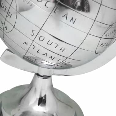 "vidaXL Globe with Stand Aluminum Silver 13.8""[2/3]"